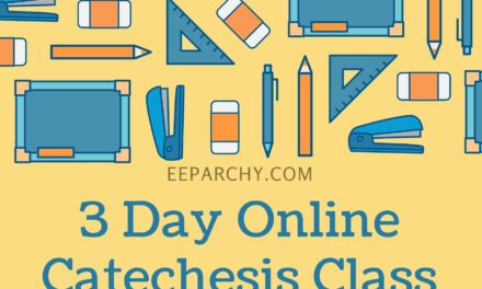3 Day OnlineCatechesis Class